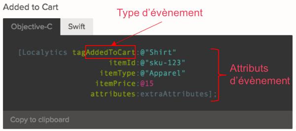Exemples de code de tagage Localytics added to cart-2