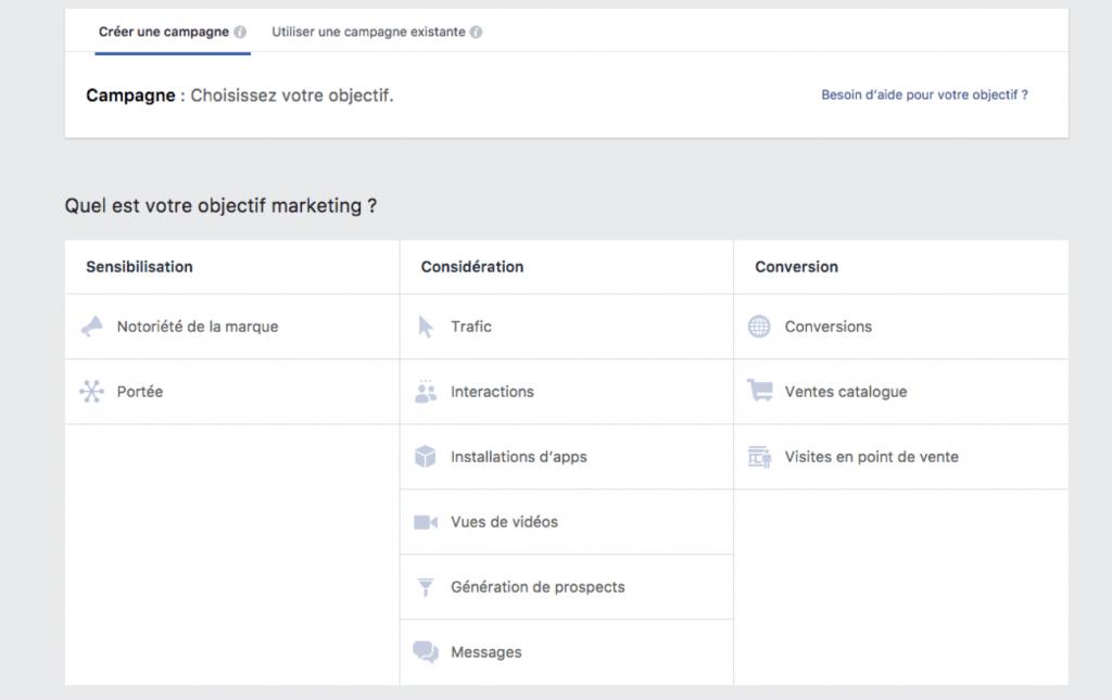 Facebook Objectifs