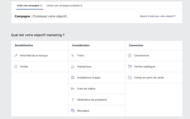Facebook-Objectifs