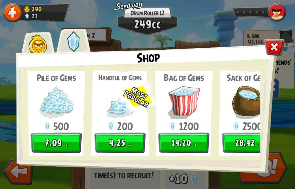 In App Purchase Angry Birds