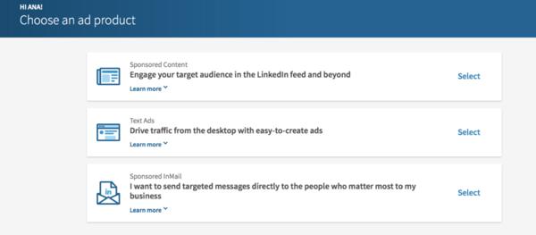 Sponsored Ads LinkedIn