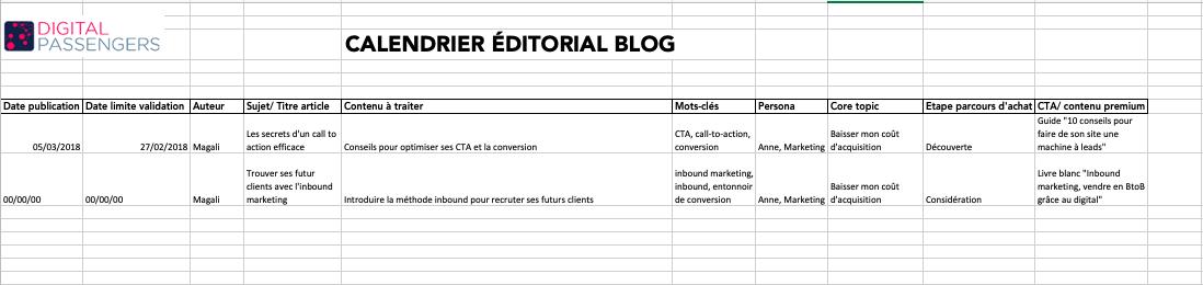 Calendrier Editorial Modele.Votre Modele De Calendrier Editorial