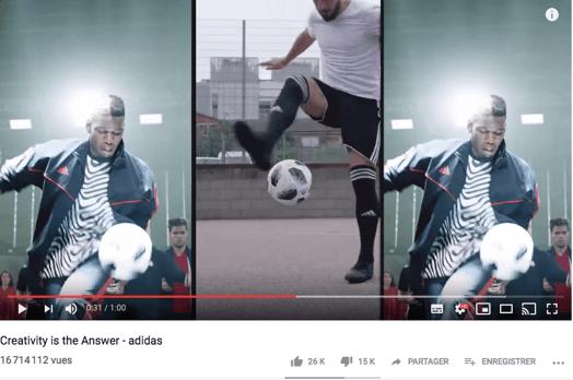 Le format 16/9 ou horizontal est adapté sur YouTube